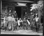 Boy Scouts at ranger station, ca. 1930