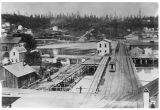 First railroad depot in Seattle, ca. 1880