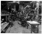 Loggers in a logging camp bunkhouse, ca. 1903