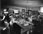 Chemistry class in the basement of Denny Hall, ca. 1905