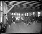 Sailors in the Naval Training Station bowling alley, ca. 1918