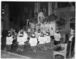 St. James Cathedral altar during Easter service, Seattle, 1937