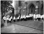 Procession entering St. Mark's Episcopal Cathedral, Seattle, 1937