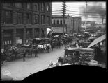 Grocery wagons on Marion Street, ca. 1905