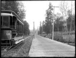 Interurban car at Wildwood station, Rainier Valley, Seattle, ca. 1905