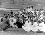 Story hour at Collins Playground, ca. 1912