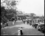 Strolling along the waterfront in Leschi Park, ca. 1911