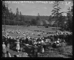 Outdoor concert at Seward Park, Seattle, August 1952