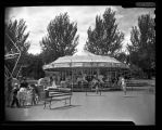 Merry-go-round at Woodland Park, Seattle, August 1953