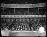 Mayor Gill's overflow rally in the Seattle Theatre, February 2, 1911