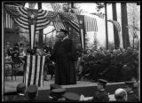 Theodore Roosevelt speaking at the University of Washington , April 6, 1911