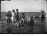 Swimmers at Ballard Beach, Seattle, ca. 1913
