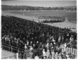 Crowds at Longacres racetrack, 1935