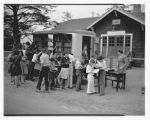 WPA bookmobile at Grayland School, June 8, 1940