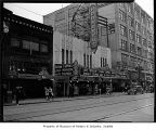 Roosevelt Theatre viewed from across Pike Street, Seattle, 1937