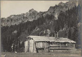 Denny cabin on the east side of the Cascades, ca. 1910