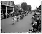 Children riding tricycles in the Kent Children's Parade, May 15, 1948