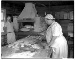 Women making flatbread at Pearson's Bakery, December 1943