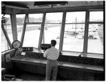 View from the control tower at the Renton Airport, August 9, 1949
