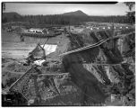 Overview of the Mud Mountain Dam construction site, March 1941