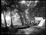 Campers at Lake Washington, 1900