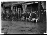 Dogsled outside the Pioneer Restaurant, ca. 1898