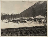 Tunnel construction camp at Stevens Pass, February 22, 1927