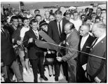 Ribbon cutting at the Evergreen Point Floating Bridge, August 28, 1963