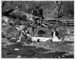 Denny family picnic on Snoqualmie River, ca. 1918
