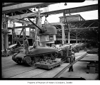 Tanks on assembly line at Pacific Car and Foundry  factory, Renton, 1943