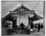 Anderson Steamboat Company ticket office, ca. 1906