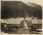 Railroad tunnel construction camp at Scenic, Washington, April 30, 1927