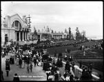 Alaska-Yukon-Pacific Exposition grounds, looking toward Lake Washington, 1909