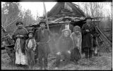 Group of Nooksack Indians with Old Tolowie, ca. 1903