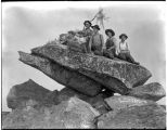 Group of people on top of Mount Pilchuck, ca. 1900