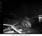 Train hit by landslide near Carkeek Park, Seattle, December 27, 1959