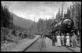 Steam train at Keechelus, ca. 1910