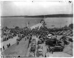 Crowds at the Lake Washington Floating Bridge, July 3, 1949