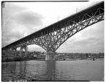 Aurora Bridge from south side of the ship canal,  March 1939