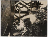 "Kate Borst christening the steamer ""Snoqualmie,"" August 11, 1919"
