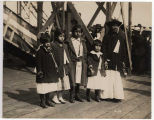 "Snoqualmie Indians at launching of steamer ""Snoqualmie,"" August 11, 1919"