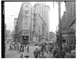 Rubble near Pioneer Square from 1949 earthquake, May 1949