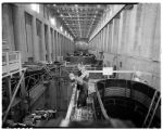 Inside a powerhouse at Grand Coulee Dam, August 1941