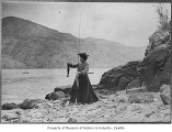 Abbie Denny fishing at Lake Chelan, n.d.