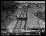 Inclined railroad at Diablo Dam, ca. 1930