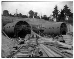 Tunnel construction for the first floating bridge, September 1939