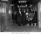 Queen Marie of Romania with Prince Nicholas and Princess Ileana, Sam Hill, and Mayor Bertha...