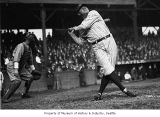 Babe Ruth at bat in Dugdale Park, Seattle, October 19, 1924.