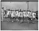 Drum majorettes in Potlatch parade, July 1938