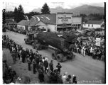 Log truck in parade at Darrington Timber Festival, July 25, 1949
